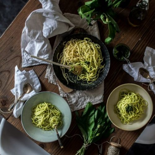 Wild Garlic and Pistachious Pesto