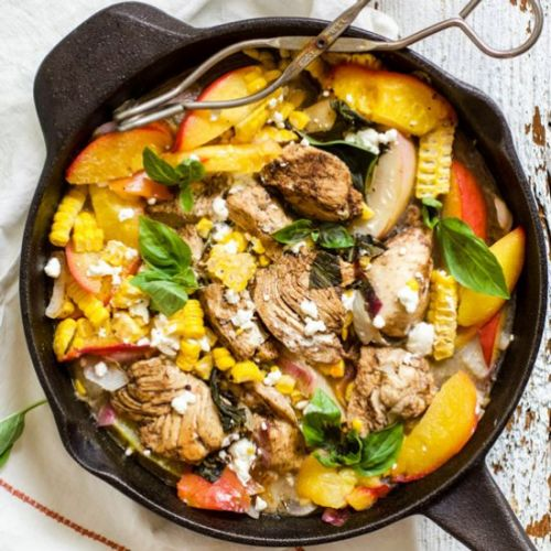 Peach Basil Balsamic Chicken
