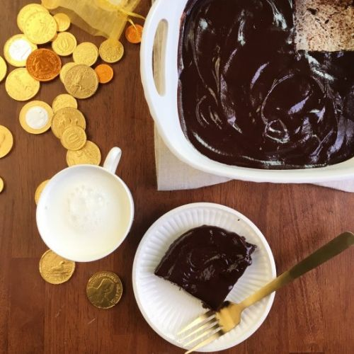 Mexican hot chocolate coin brownies