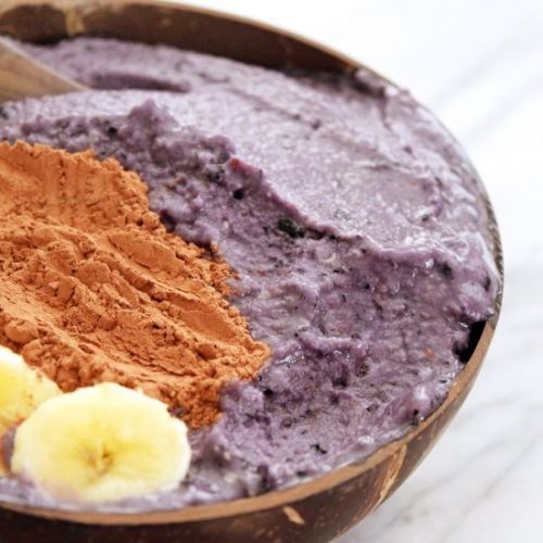 Blueberry Cauliflower Smoothie Bowl