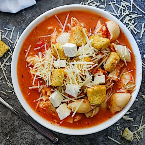 Slow Cooker Chicken Parm Soup