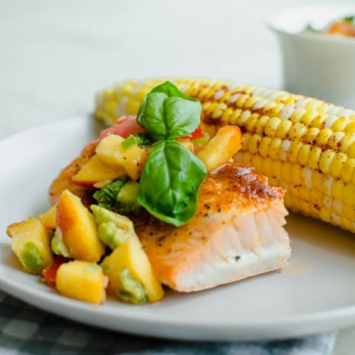 Slow-roasted bbq salmon