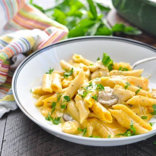 Dump-and-Bake Cheesy Chicken Penne