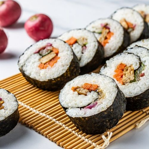 Vegan Kimbap with Tempeh