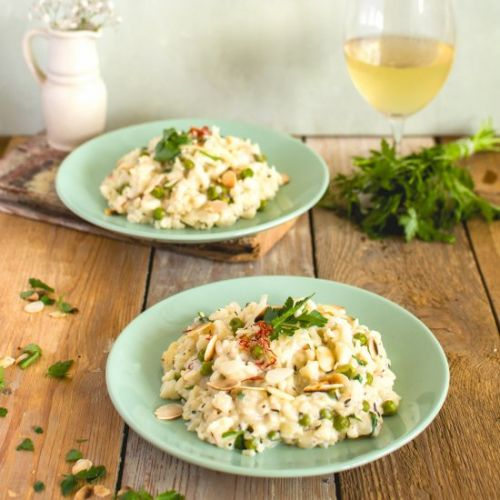 Milk cauliflower risotto