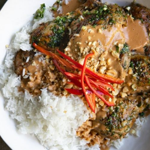 Grilled Thai Peanut Chicken
