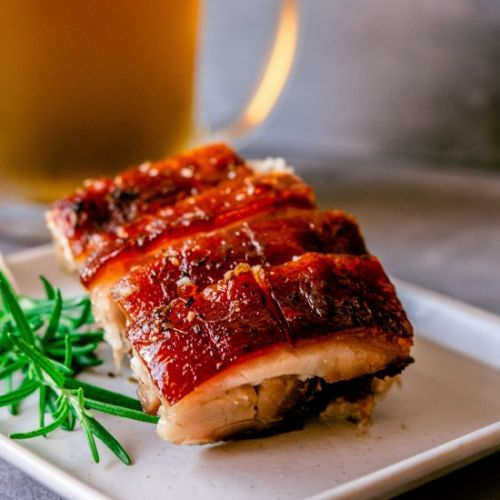 Crispy Beer Braised Pork Belly
