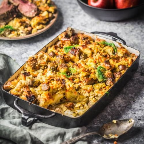 Stuffing with Apples and Sausage