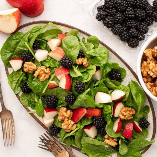 Red Pear and Blackberry Salad