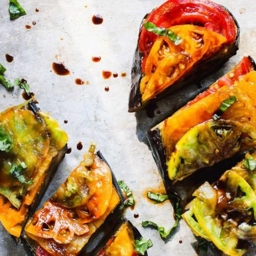 Basil Roasted Eggplant