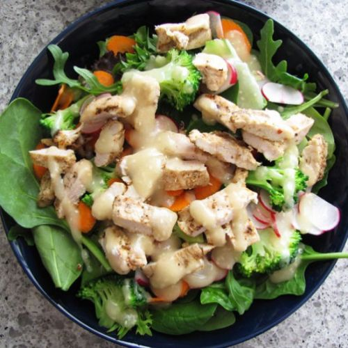Chicken Salad w Miso Dressing