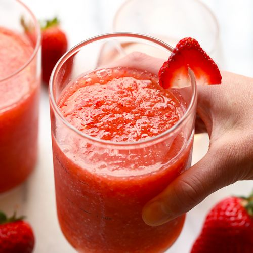 Strawberry Peach Frose Recipe {video}