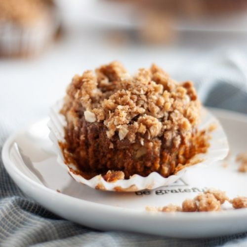 Whole Wheat Apple Streusel Muffins