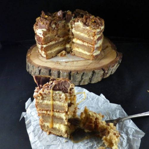 Butterscotch and Daim Layer Cake