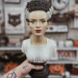 Beware! This Bride of Frankenstein Bust Is the Perfect Addition to Your Halloween Decor