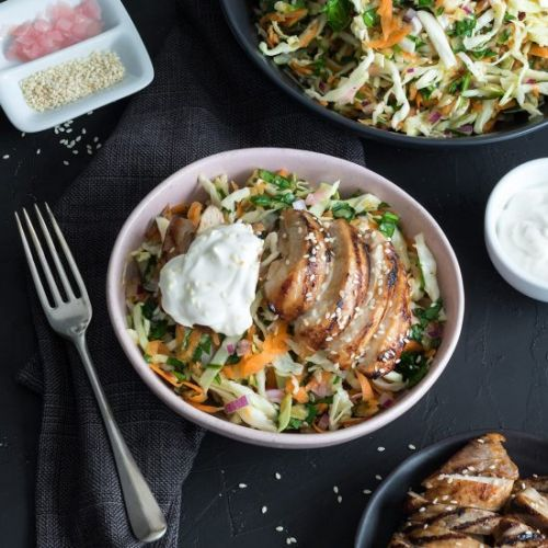 Miso Chicken with Slaw