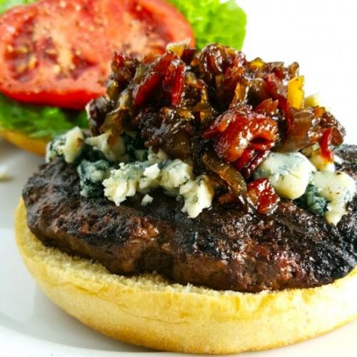 Bacon Jam & Blue Cheese Burgers