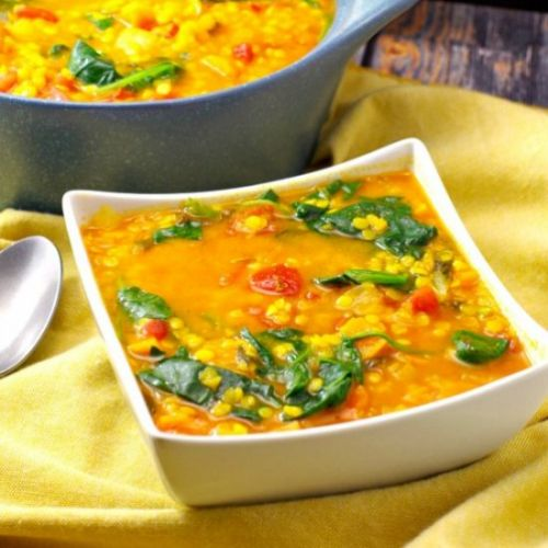 Red Lentil Spinach Soup