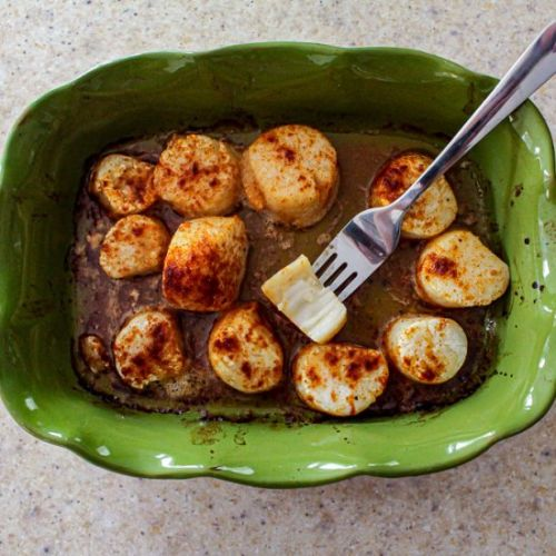 Butter and Garlic Baked Scallops