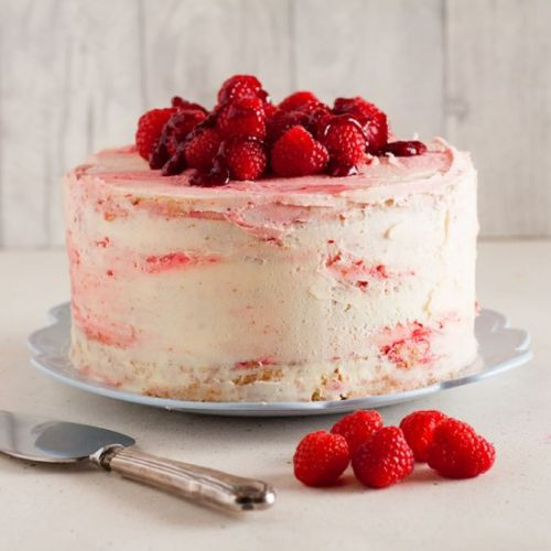 Lemon and Raspberry Layer Cake