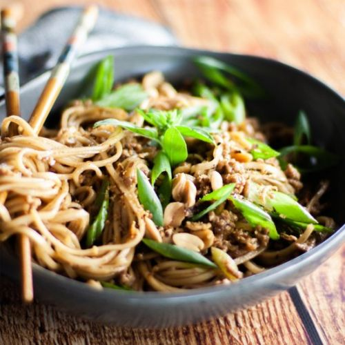 Pork and Peanut Noodles