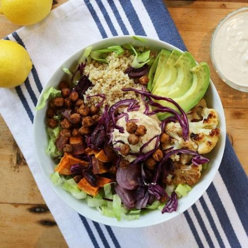 Lemon Tahini Quinoa Bowl