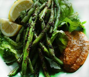Blackened Stringbeans with Creole Remoulade using Flavor Maker Spices CAGE seasoning