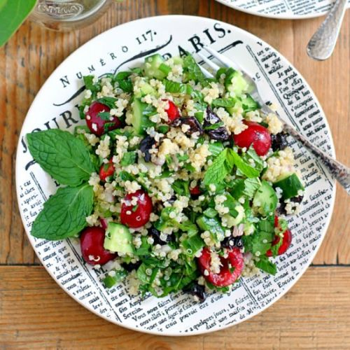 Quinoa Tabbouleh with Cherries