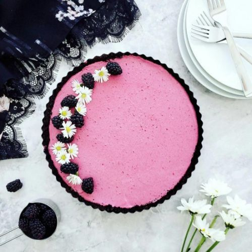 No Bake Blackberry Tart
