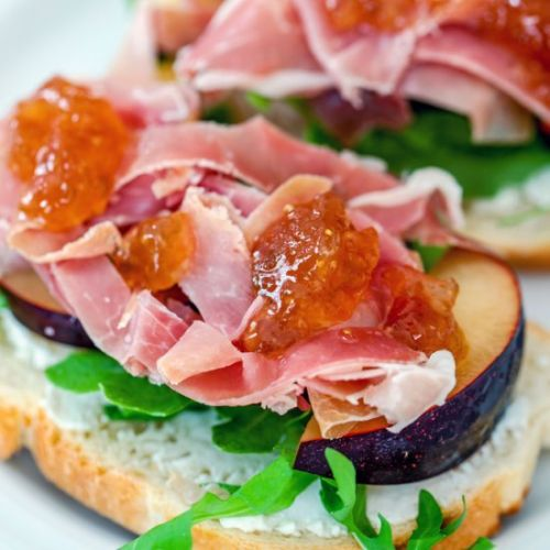 Prosciutto and Plum Sandwiches