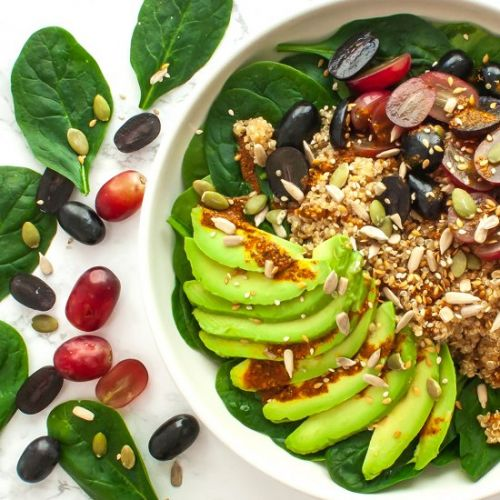 Quinoa Grape Salad with Avocado