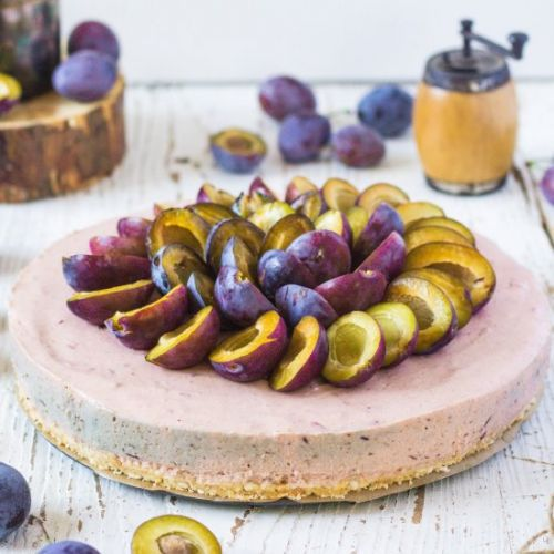 No bake Plum Cheesecake