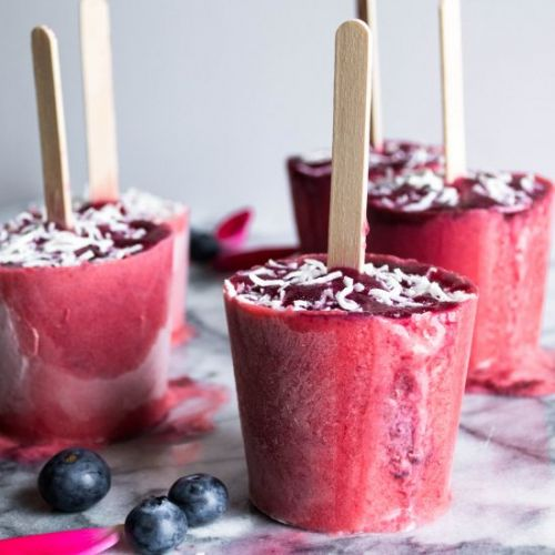 Summer Berries + Coconut Cream Pops