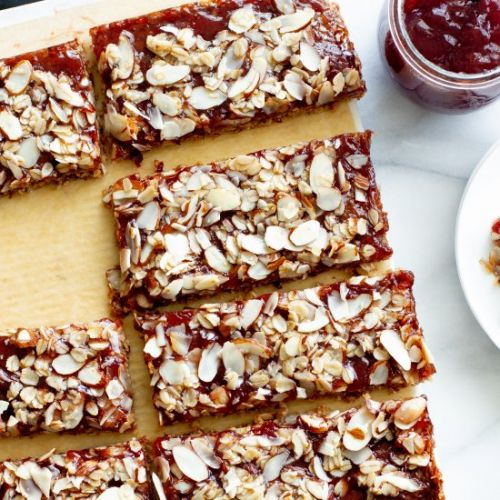 Peanut Butter and Jelly Oat Bars