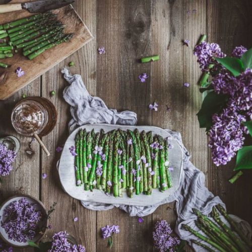 Grilled Honey Asparagus