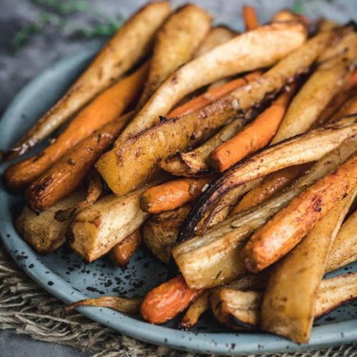 Honey Roasted Parsnips and Carrots