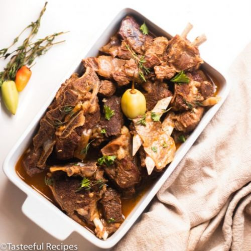 Caribbean Stewed Goat Meat