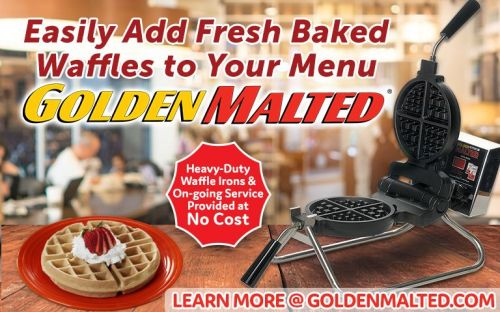 Add Fresh Baked Waffles to Your Menu - Golden Malted Provides Bakers & Service at No Cost