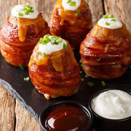 Bacon-Wrapped Volcano Potatoes