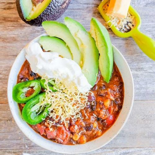 Spicy Cincinnati Black Bean Chili