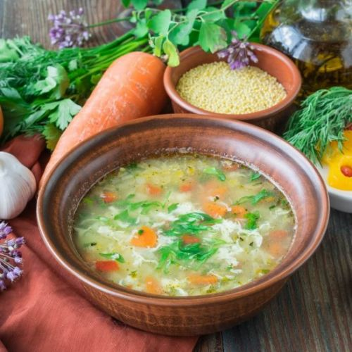 Soup with Millet and Egg