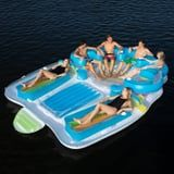 This Giant Multicolored Pool Float Fits 7 People - So, Who's Ready For a Pool Party?