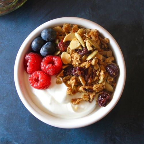 Olive Oil and Dried Cherry Granola