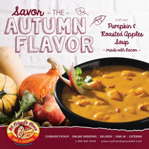 My Friend's Place Deli Announces Pumpkin, Roasted Apple Soup LTO