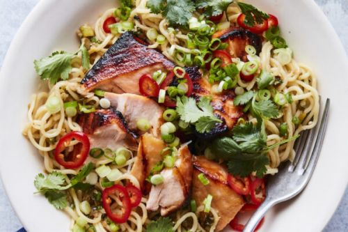 Miso Salmon with Sesame Ginger Noodles