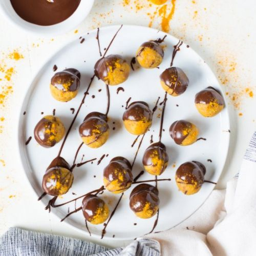 Chocolate Covered Golden Glow Bites