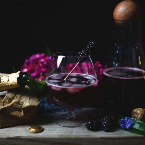 Spiced Blackberry Sangria