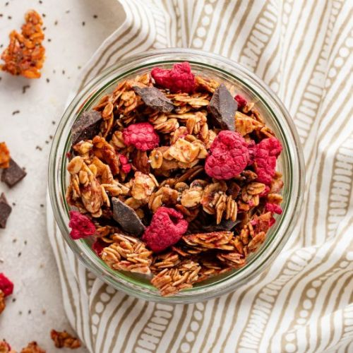Raspberry Chocolate Chunk Granola