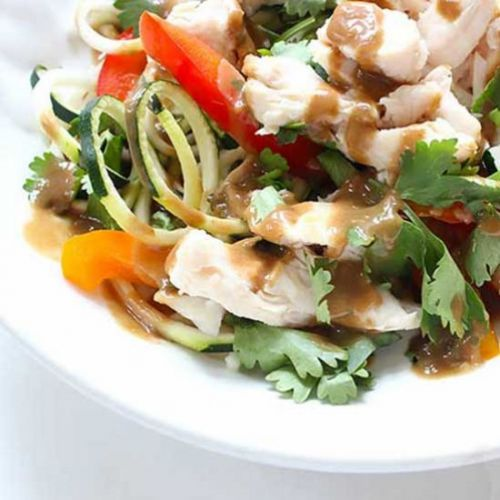 Zoodle Salad With Thai Peanut Sauce