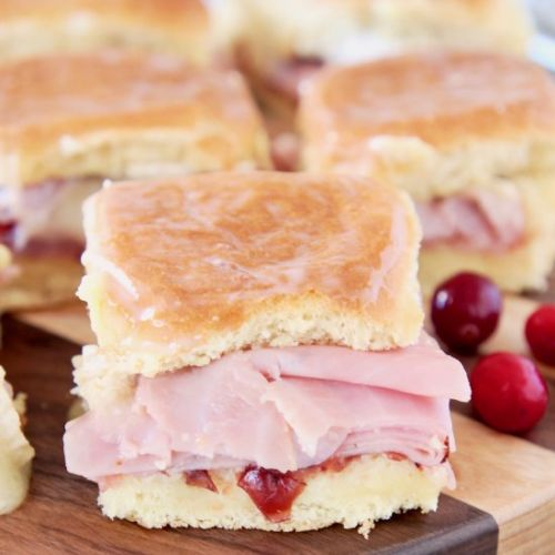 Cranberry Brie Ham Sliders